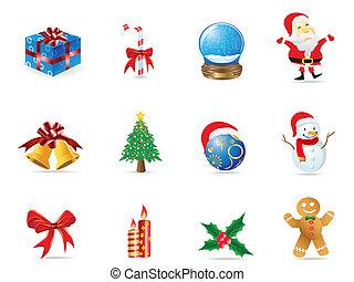 karácsony, ikon, állhatatos