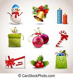 karácsony, ikonok, állhatatos