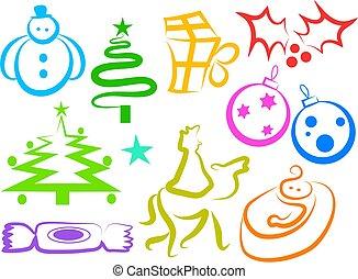 karácsony, ikonok