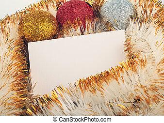 karácsony, kártya, köszönés