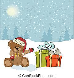karácsony, köszönés kártya