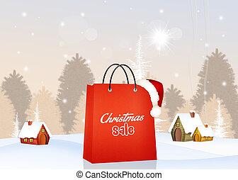 karácsony, kiárusítás