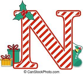 karácsony, levél, abc, észak