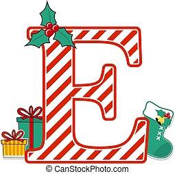 karácsony, levél, abc, e.eps