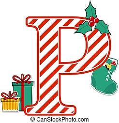 karácsony, levél, abc, p