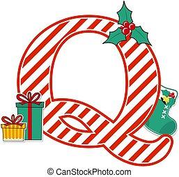 karácsony, levél, abc, q
