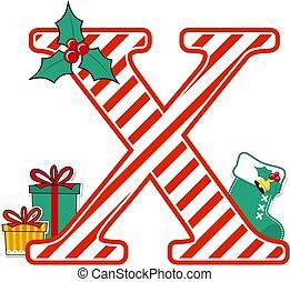 karácsony, levél x, abc