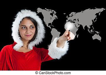 karácsony, nő