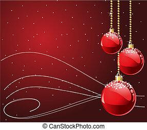 karácsony, piros