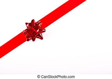 karácsony, piros szalag, határ