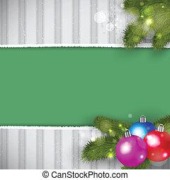karácsony, retro, háttér