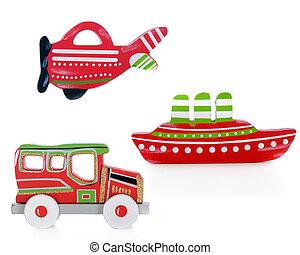 karácsony, szállít, kapcsolók