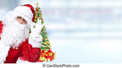 karácsony, szent, claus.