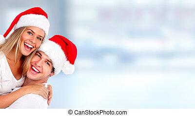 karácsony, szent, párosít.