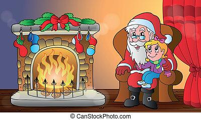 karácsony, szobai, téma, 6