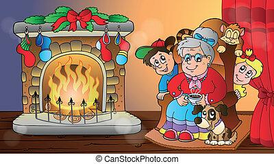 karácsony, szobai, téma, 7