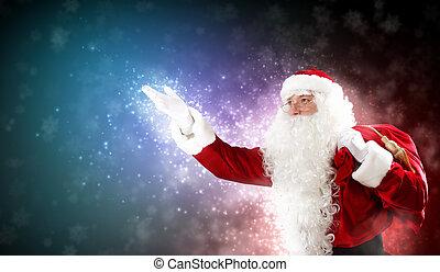 karácsony, téma, noha, szent