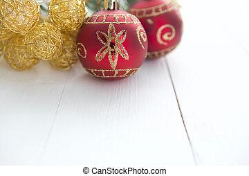 karácsony, téma, noha, tiszta, dolgozat, képben látható, wooden élelmezés