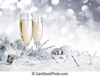 karácsony, tószt, ezüst