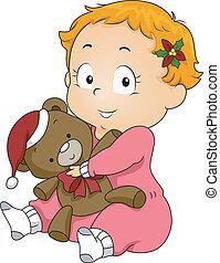 karácsony, teddy-mackó