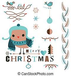 karácsony, tervezés elem, állhatatos