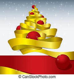 karácsony, tervezés, (vector)