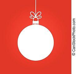 karácsony, white labda