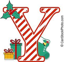 karácsony, y, levél, abc