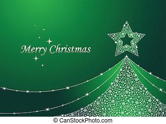 karácsony, zöld fa