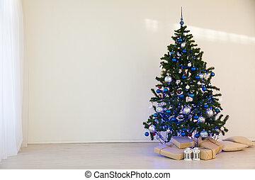 karácsonyfa, képben látható, karácsony napja, alatt, egy, white hely, noha, tehetség