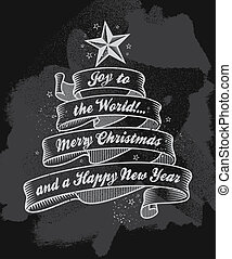 karácsonyfa, szalag