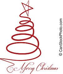 karácsonyfa, vektor