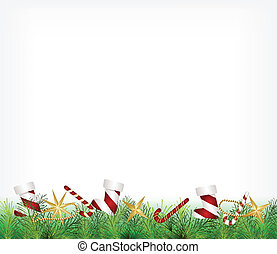 karácsonyi üdvözlőlap, díszítés, felakaszt fa