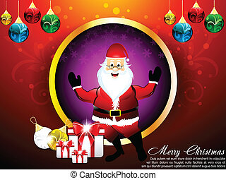 karácsonyi üdvözlőlap, vektor, szent