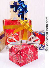 karácsonyi ajándék, dobozok