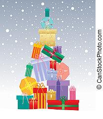 karácsonyi ajándék, fa