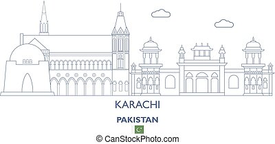 Karachi City Skyline, Pakistan - Karachi Linear City...