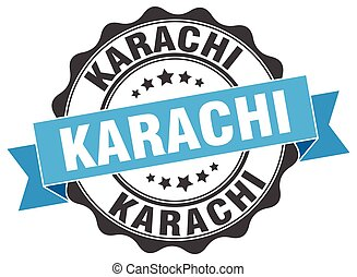 Karachi round ribbon seal