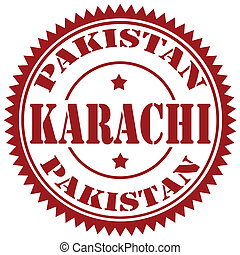 Karachi-stamp - Rubber stamp with text...