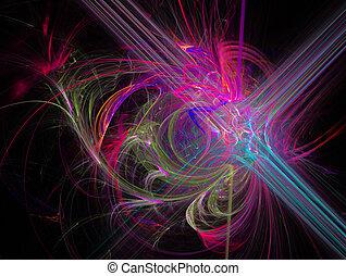 karafiát, abstraktní, ilustrace, fantazie, grafické pozadí, fractal