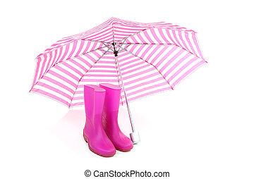karafiát, deštník, déš zaváděcí proces