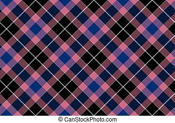 karafiát, konzervativní, kostkovaná skotská látka, model,  seamless, čerň, revidovat