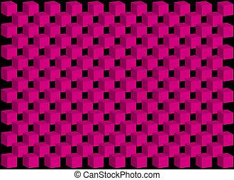 karafiát, trojmocnina, temný grafické pozadí