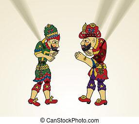karagoz, そして, hacivat