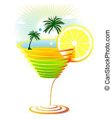 karaibski, cocktail