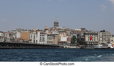 Karakoy and Galata Bridge in Istanbul City
