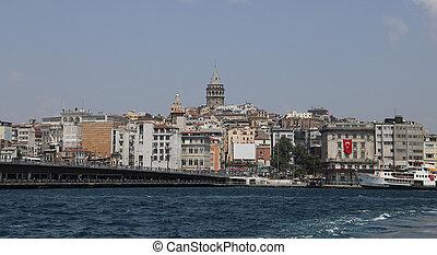 Karakoy and Galata Bridge in Istanbul City
