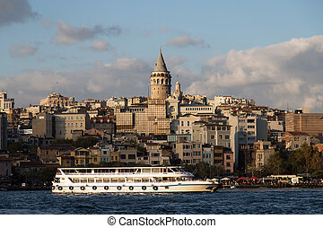 Galata - Karakoy and Galata Tower in Istanbul City