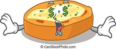 karakter, bakt, ontwerp, rijk, aardappels, geld, eyes, spotprent