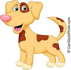 karakter, dog, spotprent